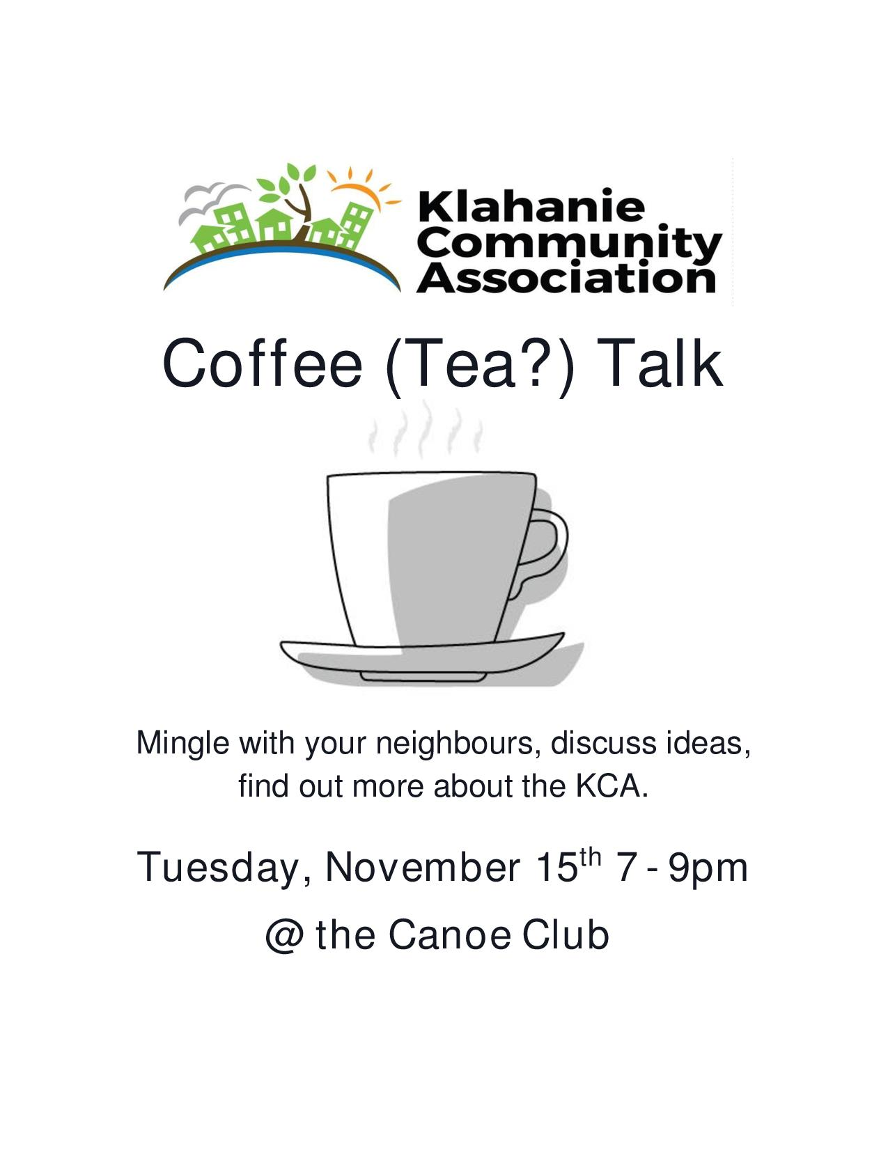 Klahanie Coffee Talk